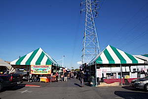 tents and shoppers at Folsom Flea